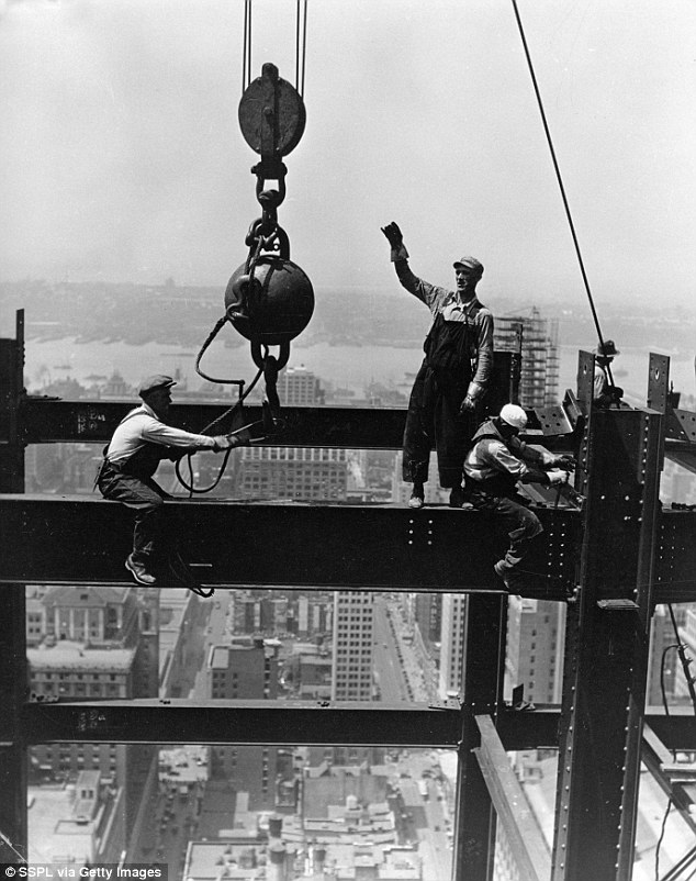 Men building skyscrapers
