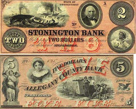 Money private bank notes