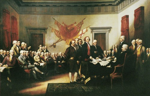 Signing of Declaration