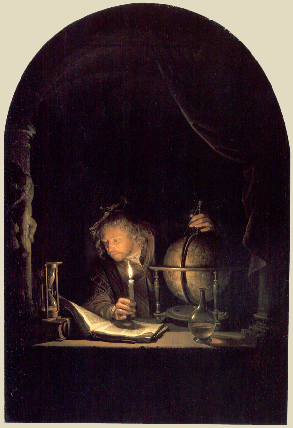 Vermeer Astronomer by candlelight
