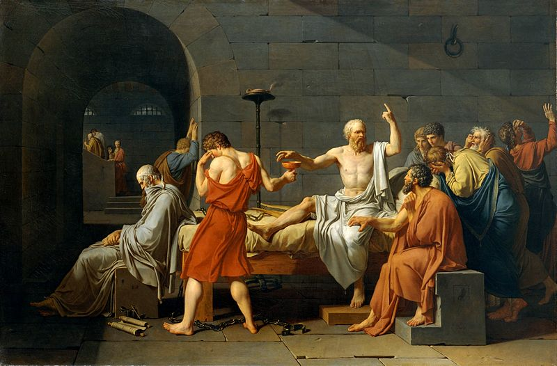 """""""The Death of Socrates"""" by Jacques-Louis David"""