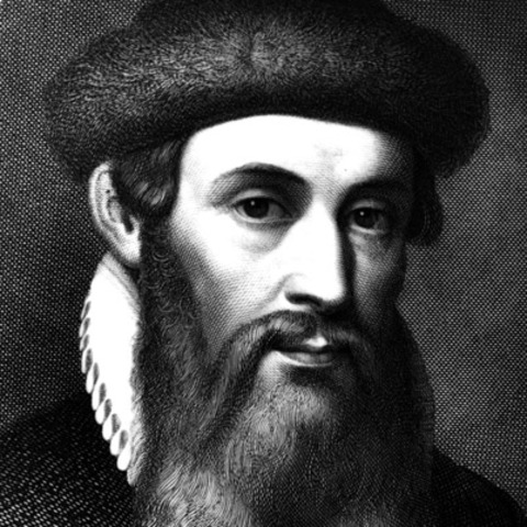 Johannes Gutenberg (1395-1468) Late in his life Gutenberg became embroiled in a dispute with his creditor, and the man sued and won control of Gutenberg's Bible workshop and half the Bibles printed. Gutenberg became bankrupt and died poor.
