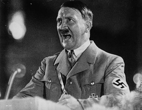 Hitler making a speech