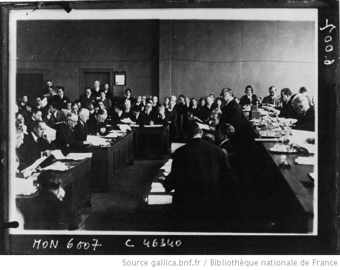 Chinese delegate addresses the League of Nations concerning the Manchurian Crisis in 1932.
