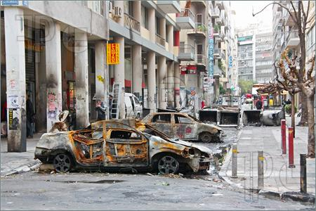 Athens streets after riots
