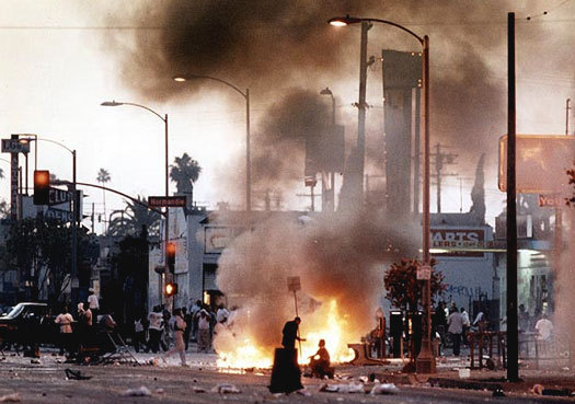 "Anarchy and lawlessness can happen even within an ""intact"" state, as evidenced by the destruction of the Los Angeles riots in 1992, as just one example."