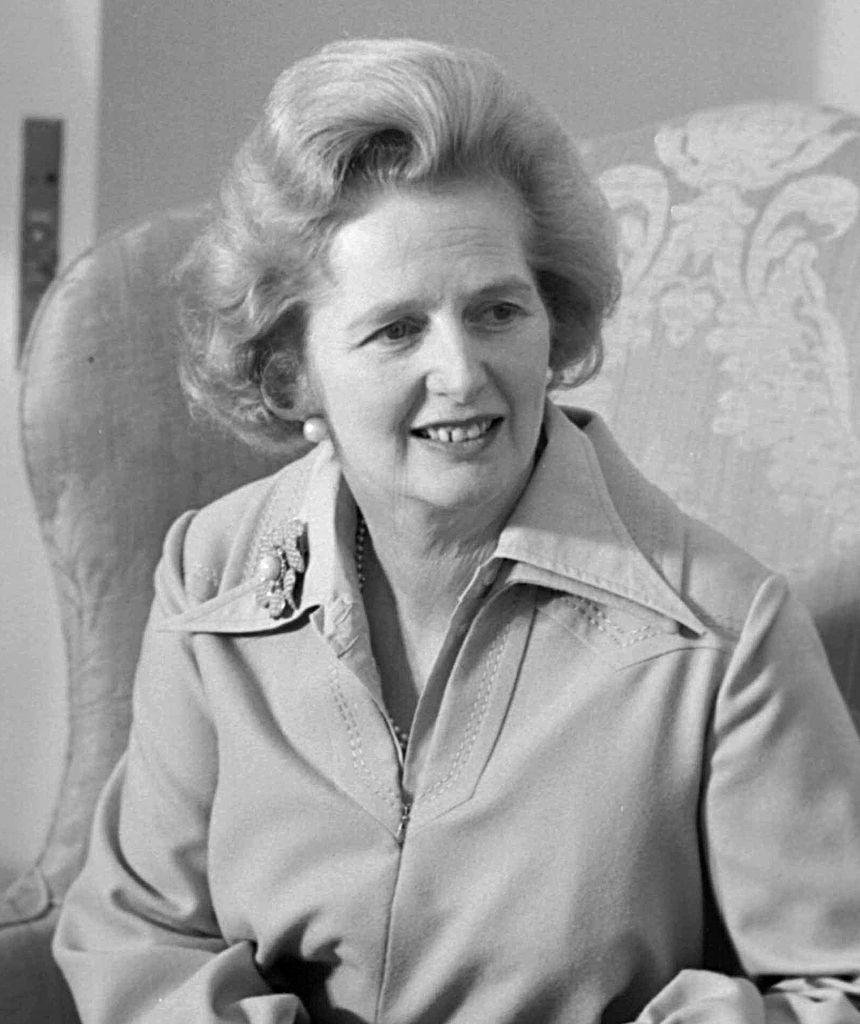 Margaret Thatcher (1925-2013), Prime Minister of the United Kingdom from 1979-1990.