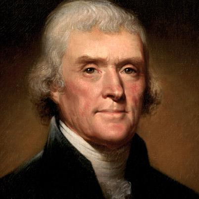 Thomas Jefferson (1743-1825), third president of the United States