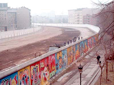 The Berlin Wall, a symbol of the Cold War, was erected in 1961 to prevent East Germans from fleeing to West Germany.