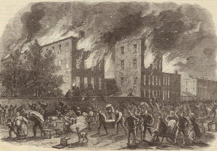 Illustration of New York City draft riots of 1863