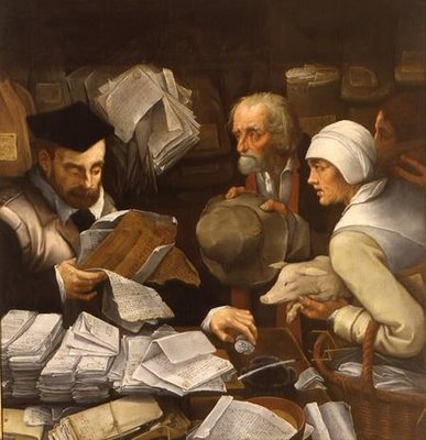 """The Tax Collector"" by Paul de Vos (1595 -1678), a Flemish artist."