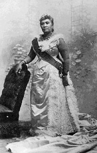 Queen Liliuokalani of Hawaii (1838-1917) ruled from 1891 until forced abdication at the hands of the U.S. in 1893.