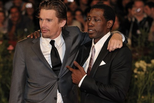 Actor Wesley Snipes (with actor Ethan Hawke) was convicted of three misdemeanor counts in 2008 for failing to file tax returns from 1999-2001. He was sentenced to three years at a Federal Correctional Institution in Pennsylvania.