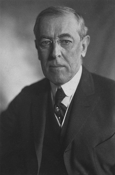 Woodrow Wilson (1856-1924), 28th President of the United States.