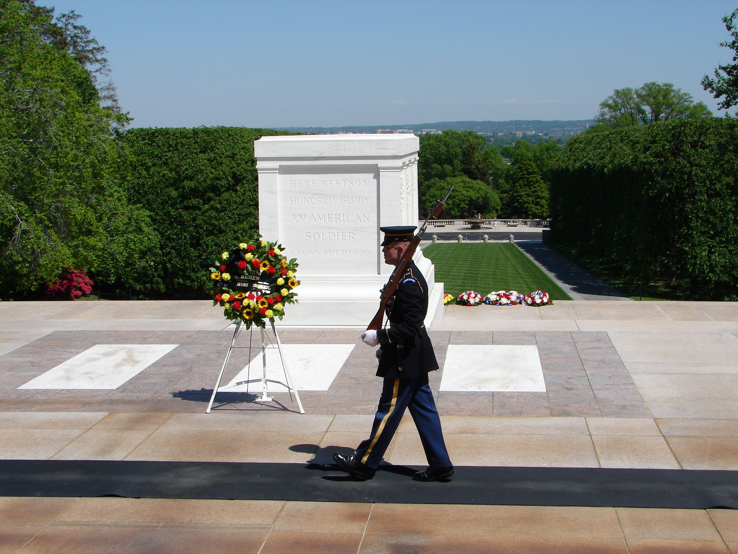 Tomb of the Unknown Soldier in Washington D.C.