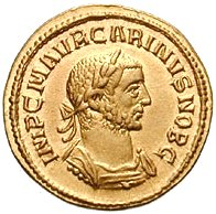 Gold coin produced by the Roman Imperial Mint