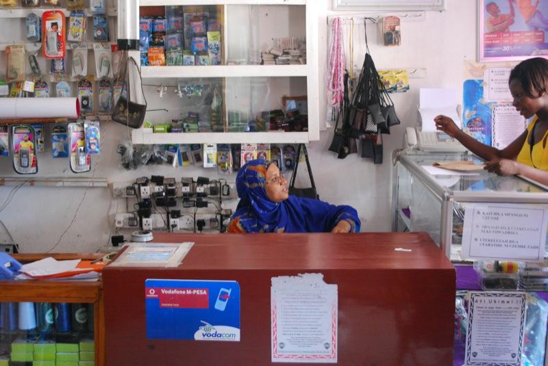 M-Pesa agent in Tanzania
