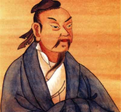 An illustration of Chinese philosopher Zhuangzi (369-286 BC)