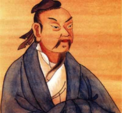 An illustration of Chinese philosopher Zhuangzi (369-286 BC)