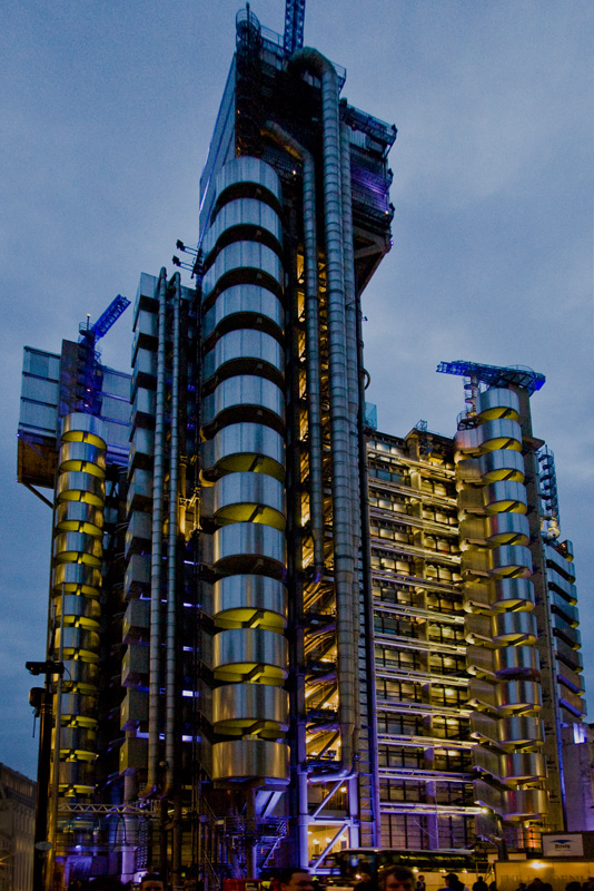 Lloyd's today, located in the financial district of London.