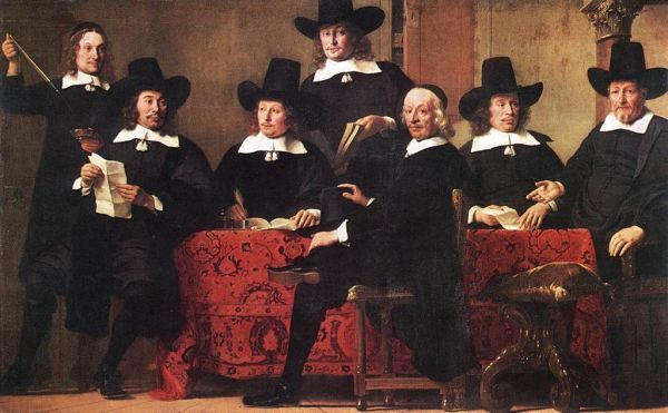 "The image above, a painting by Dutch artist Ferdinand Bols (1616-1680) entitled ""Governors of the Wine Merchant's Guild"" symbolizes the cooperation of merchants in post-renaissance Europe to reduce the impact of commercial risk by means of insurance arrangements"