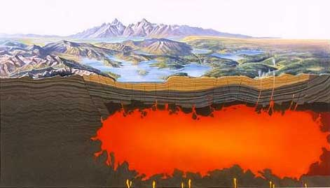 Yellowstone magma chamber.