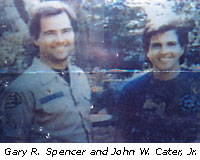 Deputy Sheriff Gary Spencer smiling triumphantly with colleague after the Oct. 2 raid on Scott's home.