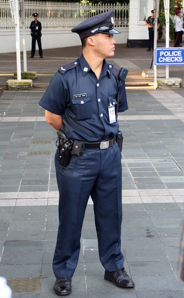 Private  serving with the Istana Police. The uniforms of the Istana Police are not changed after corporatisation.