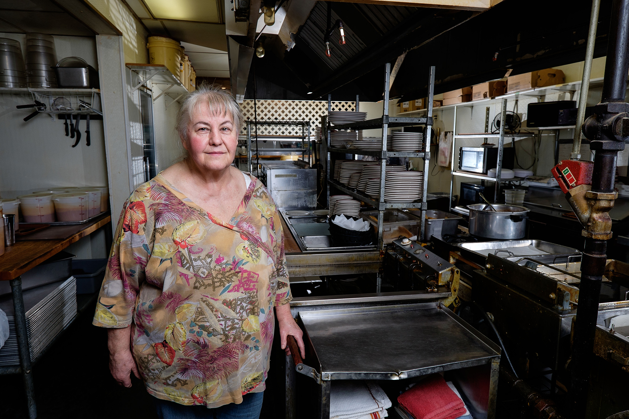 Carole Hinders inside her Mexican restaurant. Photo courtesy of The Institute for Justice.