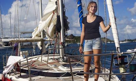 Laura Dekker and her boat