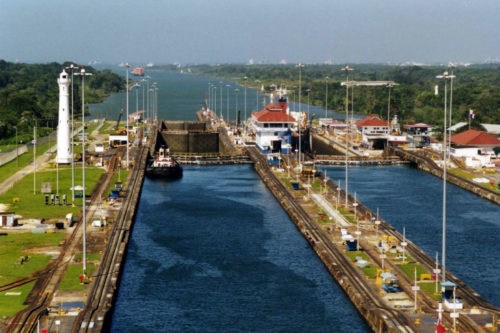 Panama Canal at Gatun Locks