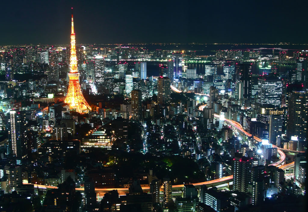 Central Tokyo and Tokyo Tower, early 21st century