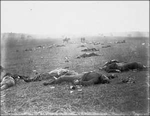 Fallen soldiers, Battle of Gettysburg, Pennsylvania, July 1863